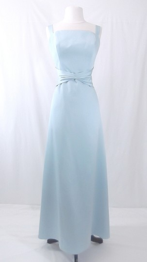 Alfred Angelo Baby Blue Satin Style 6311 Formal Bridesmaid/Mob Dress Size 12 (L)