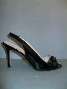 Manolo Blahnik Patent Black Pumps