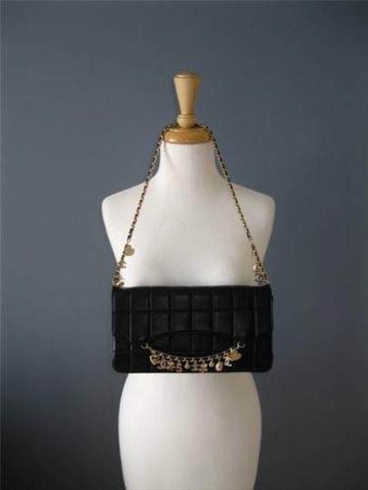 Chanel Quilted Leather Gold Chain Lucky Charm Shoulder Bag