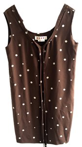 Marni short dress Brown & White on Tradesy