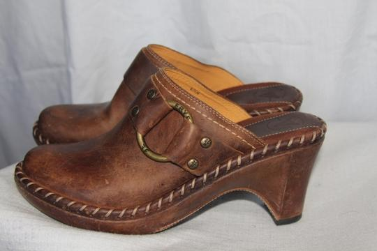 Frye Brown Mules