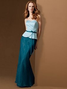 Alfred Angelo Teal / Baby Blue Style 6454 Dress