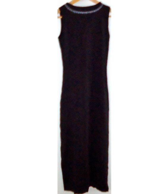 black Maxi Dress by The Limited Cotton Embroidered V-neck