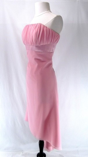 Alfred Angelo Light Pink Chiffon 6455 Casual Dress Size 10 (M)