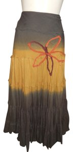 La Belle Cotton Maxi Skirt brown & gold