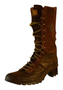 Palladium Combat Lace Up Military Green Boots