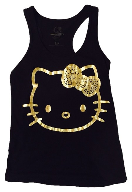 Hello Kitty Top Black With Gold