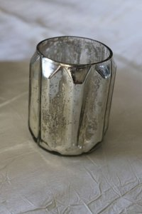 Target Silver Mercury Set Of Glass Votive/Candle