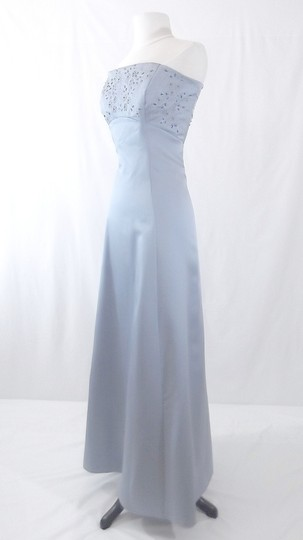 Alfred Angelo Cornflower Blue Satin Style 6822 Formal Bridesmaid/Mob Dress Size 12 (L)