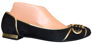 Nine West Black Gold Flats