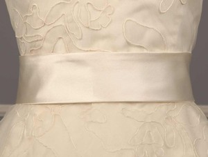 Badgley Mischka Ava Diamond White Bridal Sash Belt