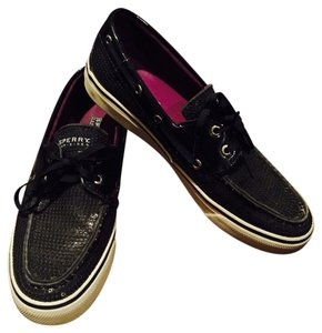 Sperry Black/Black Sequins Flats