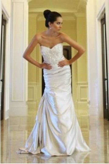Coco Anais Ivory Gown Detail and Fit 4 Us Modern Wedding Dress Size 2 (XS)