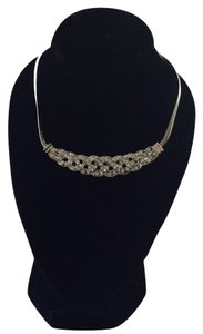 Rhinestone Bib Statement Necklace