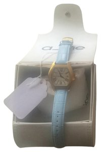 A-Line Powder Blue And Gold A Line Watch