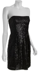 BCBGMAXAZRIA Sequin Short Strapless Dress