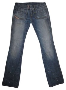 Diesel Designer Italy Boot Cut Jeans-Medium Wash