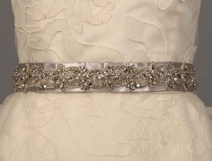 Anne Barge Lf193 B Platinum Embellished Bridal Sash
