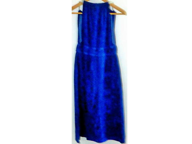 Victoria's Secret Perfect nautical - blue towel-like fabric with white rope straps