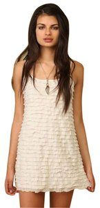 Free People short dress White Ruffle Mini on Tradesy