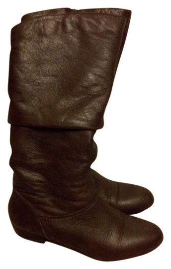 Aldo Slouch Slouch Perchinski Dark Faux Leather Leather Brown Boots