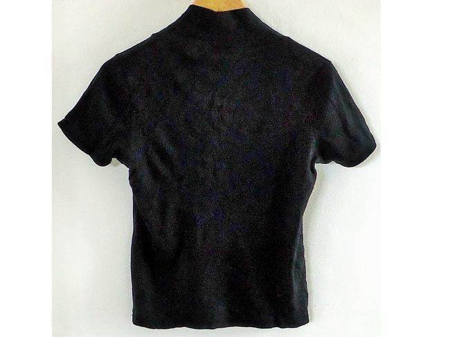 Rafaella Cotton V-neck T Shirt black