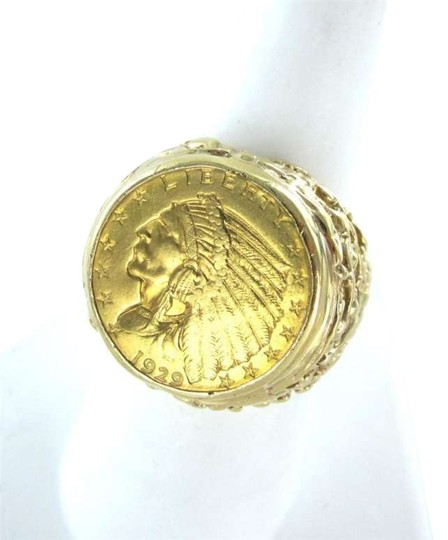 Preload https://img-static.tradesy.com/item/352468/gold-liberty-indian-head-coin-1929-14kt-yellow-161dwt-heavy-9-men-ring-0-0-540-540.jpg