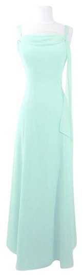 Alfred Angelo Sea Foam Chiffon Style 6494 Formal Bridesmaid/Mob Dress Size 12 (L)