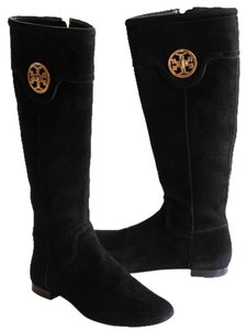 Tory Burch Selma Softy Suede Suede Black Boots