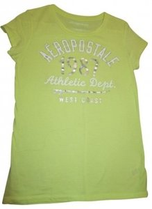 Aéropostale T Shirt light yellow