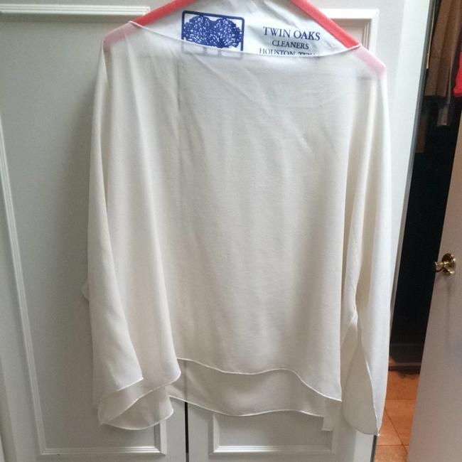 Other See Silk See Thru Top Ivory