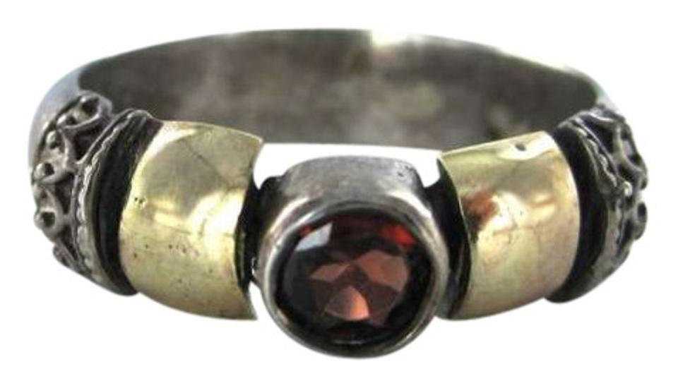 3 8 Red Stone : Sterling silver ring vintage dwt sz red stone retro