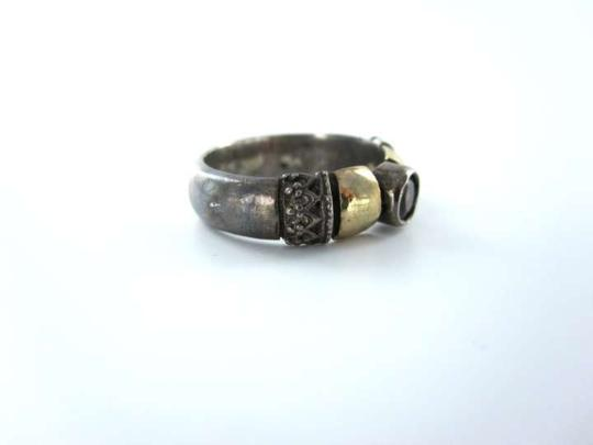 Vintage STERLING SILVER RING VINTAGE 3.8DWT SZ 8 RED STONE RETRO COLLECTIBLE ANTIQUE