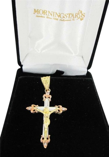 Preload https://item1.tradesy.com/images/yellow-gold-14kt-white-pendant-crucifix-christ-jesus-three-tone-diamond-352520-0-0.jpg?width=440&height=440
