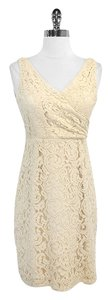 J.Crew short dress Ivory Lace Cotton Blend Sleeveless on Tradesy