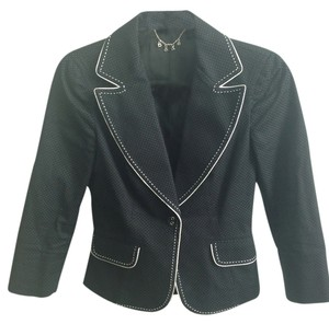 bebe Bebe jacket black with white stitching