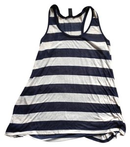 H&M H M Preppy Summer Top Navy and Whit Stripe