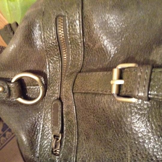 BCBGMAXAZRIA Distressed Leather Shoulder Bag