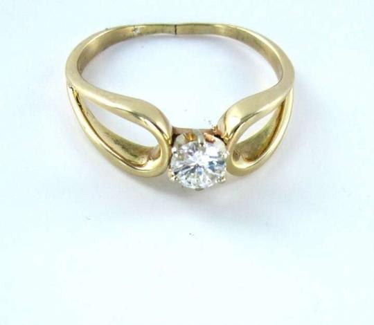 Vintage 14K YELLOW GOLD 1 DIAMOND .52CT RING WEDDING BAND SZ11 FINE JEWELRY 2.5DWT FINE