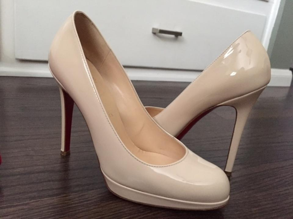 sale retailer 12dd1 b269a Christian Louboutin Bone New Simple 120 Patent Calf Wh25 334 Pumps Size US  6.5 Narrow (Aa, N) 46% off retail