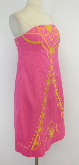 Lilly Pulitzer short dress Embroidered Cotton Strapless on Tradesy