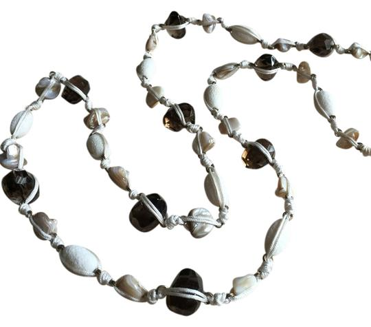 Preload https://item4.tradesy.com/images/stephen-dweck-creme-smoky-topaz-shell-and-necklace-3526288-0-0.jpg?width=440&height=440