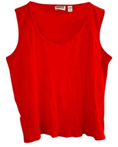 Chico's Cotton V-neck Top red