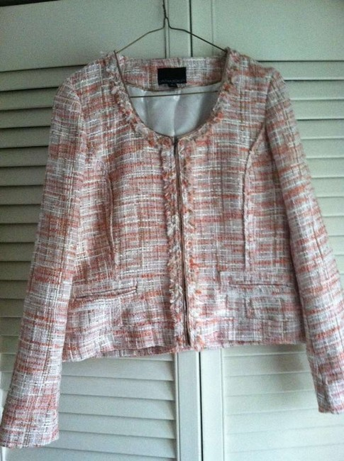 Cynthia Rowley Versatile Office And Casual white, pink, light blue Jacket