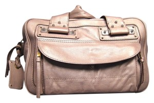 Chloé Made In Italy Satchel in Metallic Tan