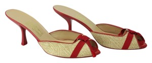 Salvatore Ferragamo Sandal Straw Red/Straw Pumps