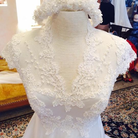 Alfred Angelo Eggshell Polyester/Lace Dress Size 2 (XS)