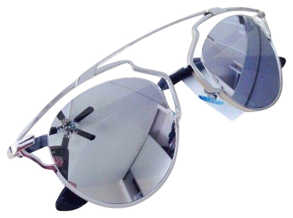 9770d473c93a Dior Dior  So Real  48mm Silver Mirrored Sunglasses Palladium Crystal ...
