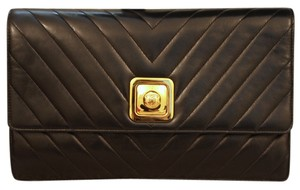 Chanel Vintage Leather Clutch Goldhardware Cross Body Bag