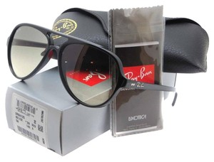 Ray-Ban Authentic Ray-Ban Cats 5000 Classic RB4125 601/32 59-13 Light Grey Gradient Lens with Black Frame
